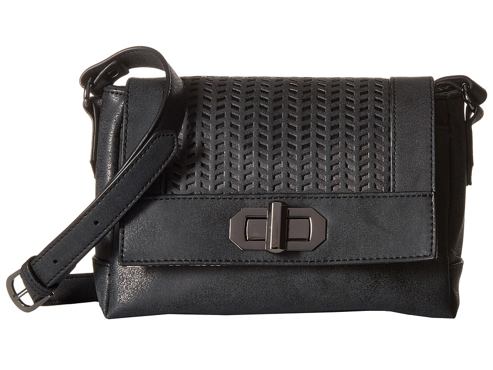 Madden Girl - Mgswift Perforated Crossbody (Black) Cross Body Handbags