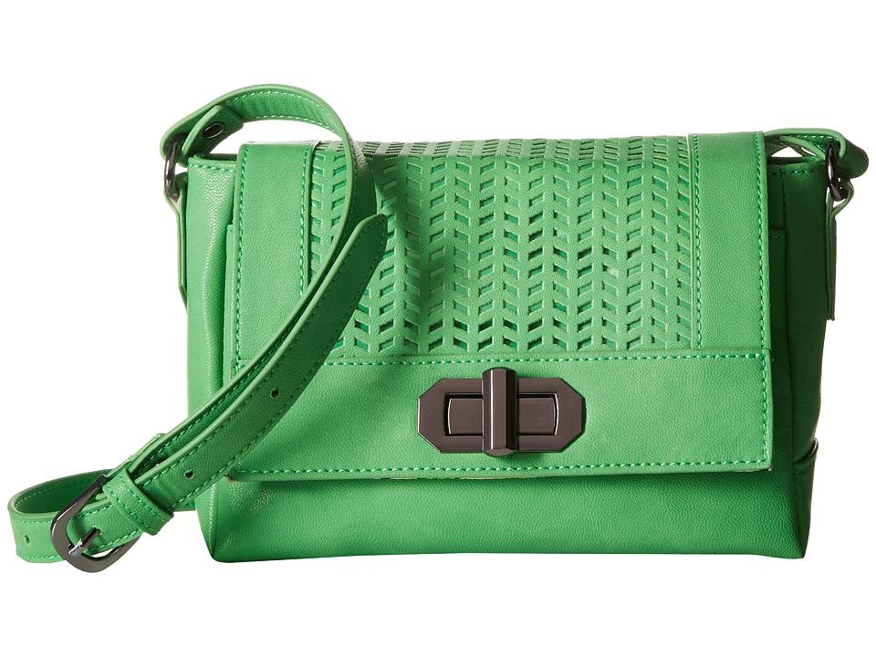 Madden Girl - Mgswift Perforated Crossbody (Kelly Green) Cross Body Handbags