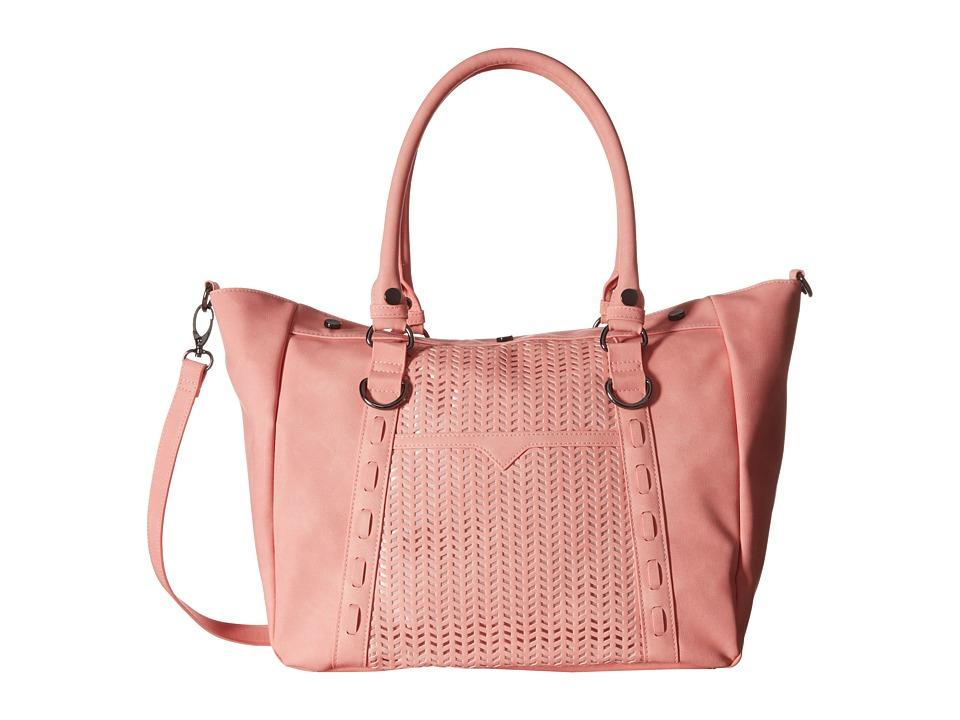 Madden Girl - Mglite Perforated Satchel (Blush) Tote Handbags