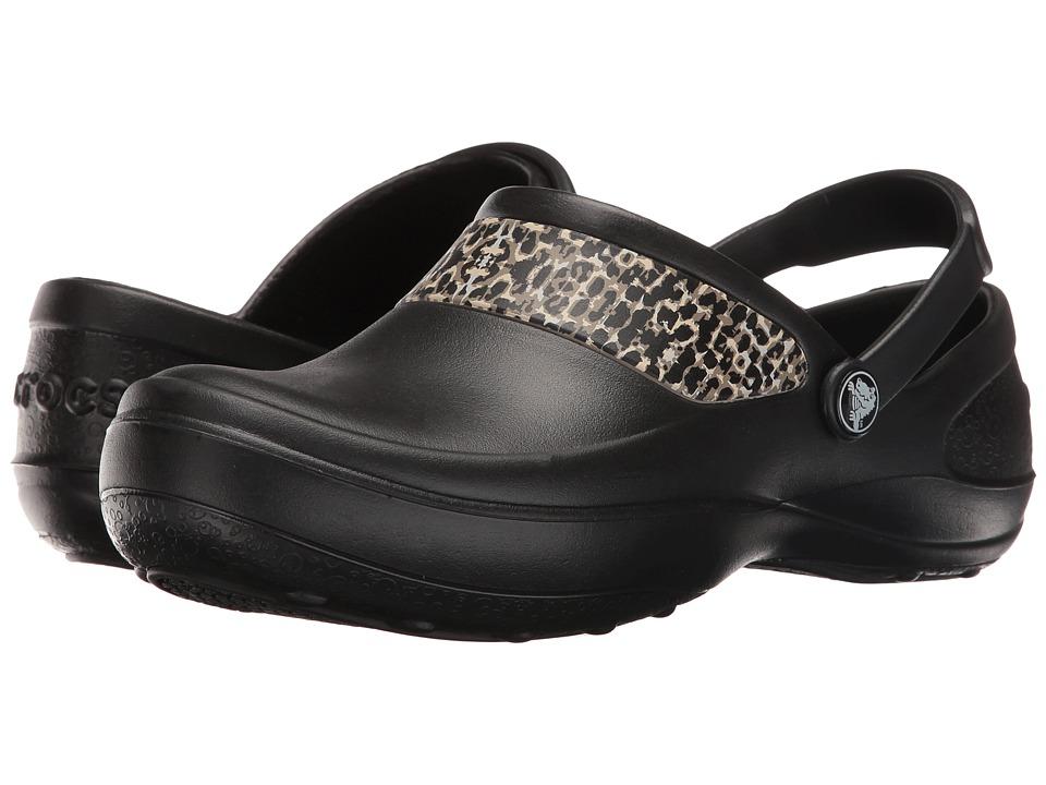 Crocs - Mercy Work (Black/Gold) Women's Clog Shoes