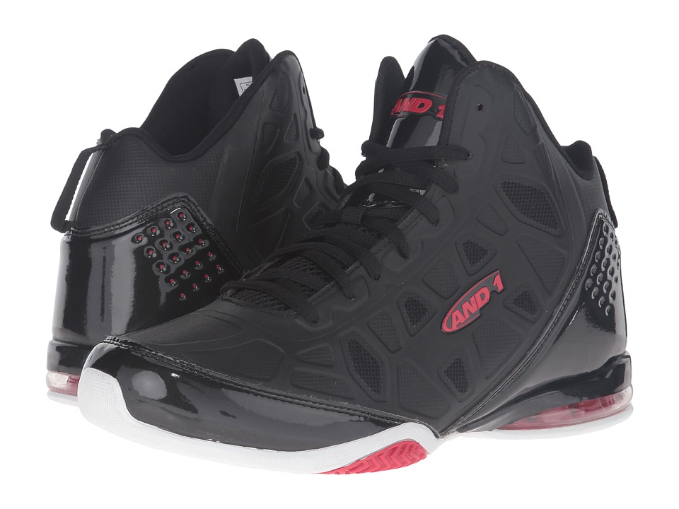 AND1 - Master 3 (Black/Red) Men's Basketball Shoes