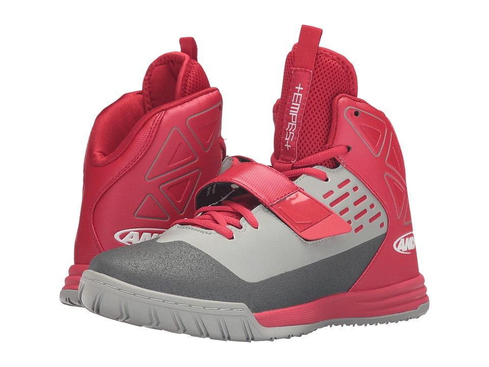 AND1 - Tempest (F1 Red/Limestone/Gunmetal) Men's Basketball Shoes