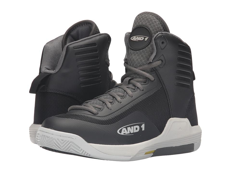 AND1 - Reaper (Black/Gunmetal/Glacier Grey) Men's Basketball Shoes