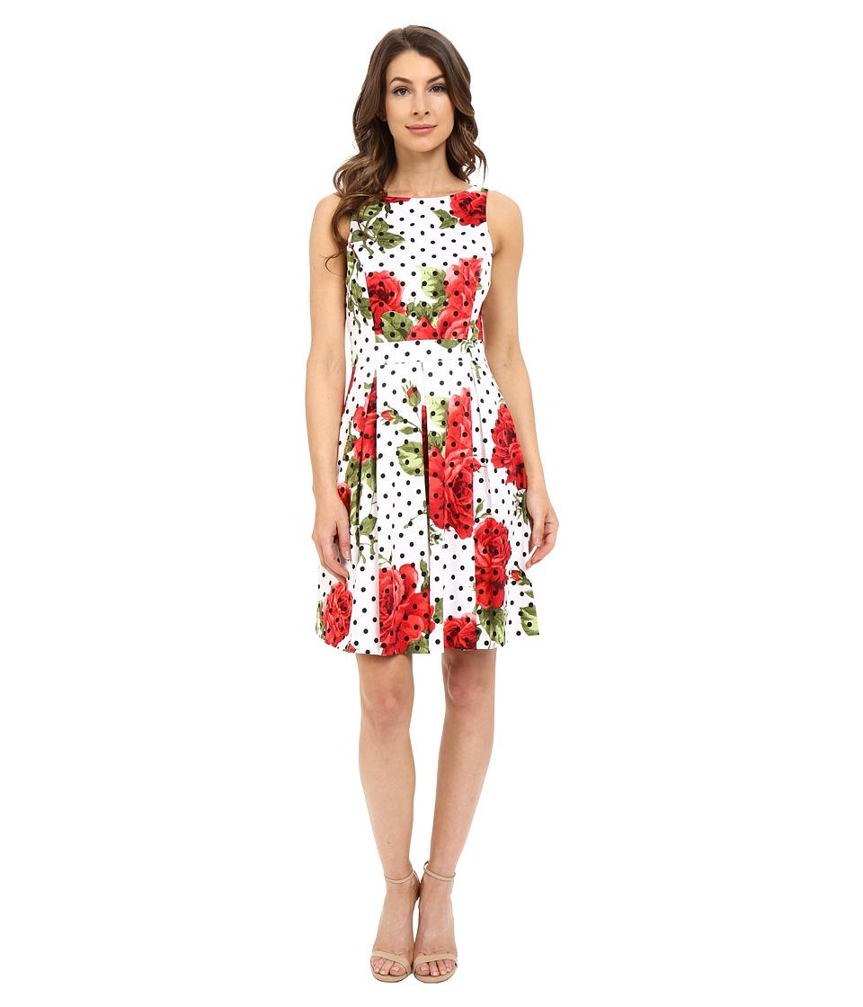 Jessica Simpson - Printed Bow Back Dress (Print) Women's Dress