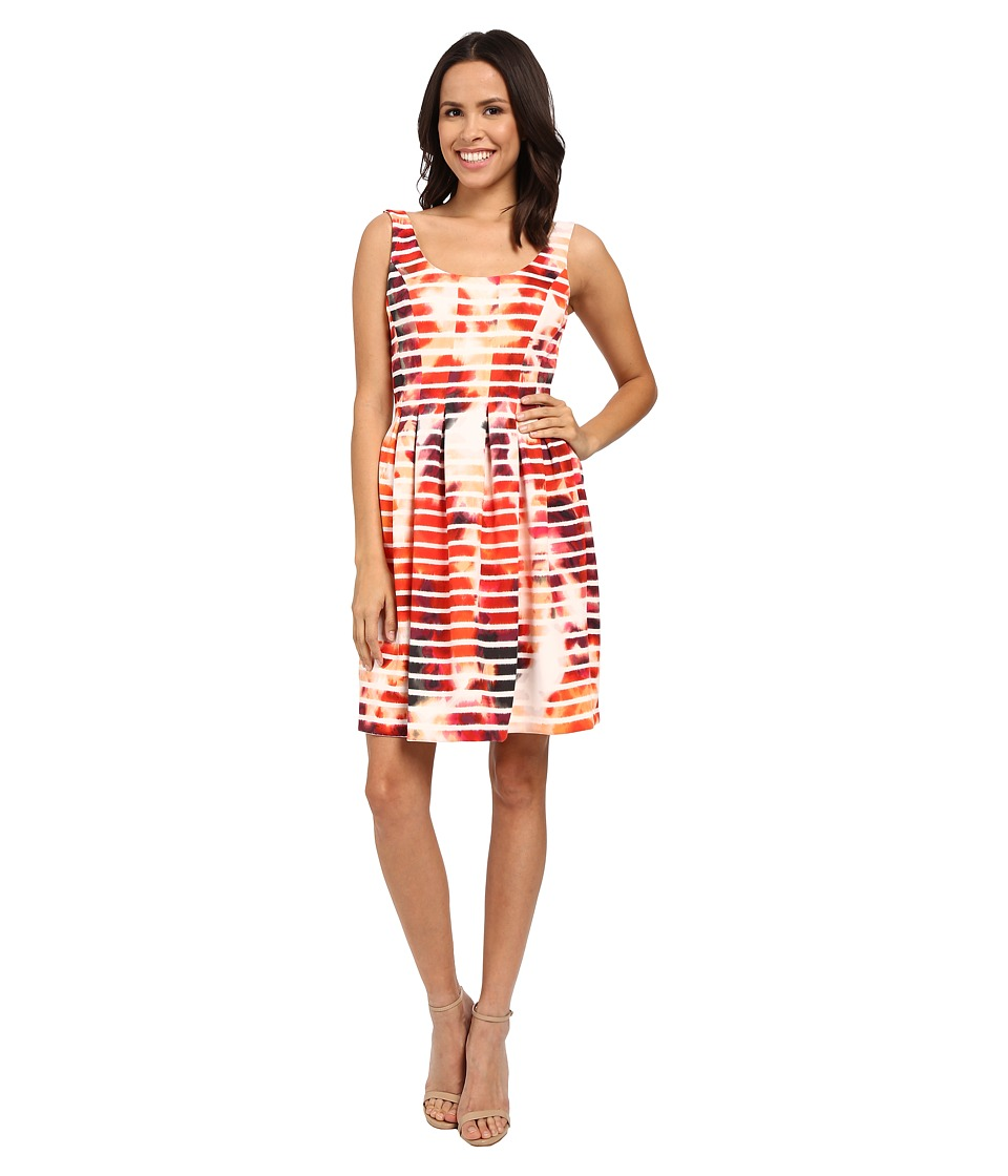 Jessica Simpson - Printed Scuba Fit and Flare (Print) Women's Dress