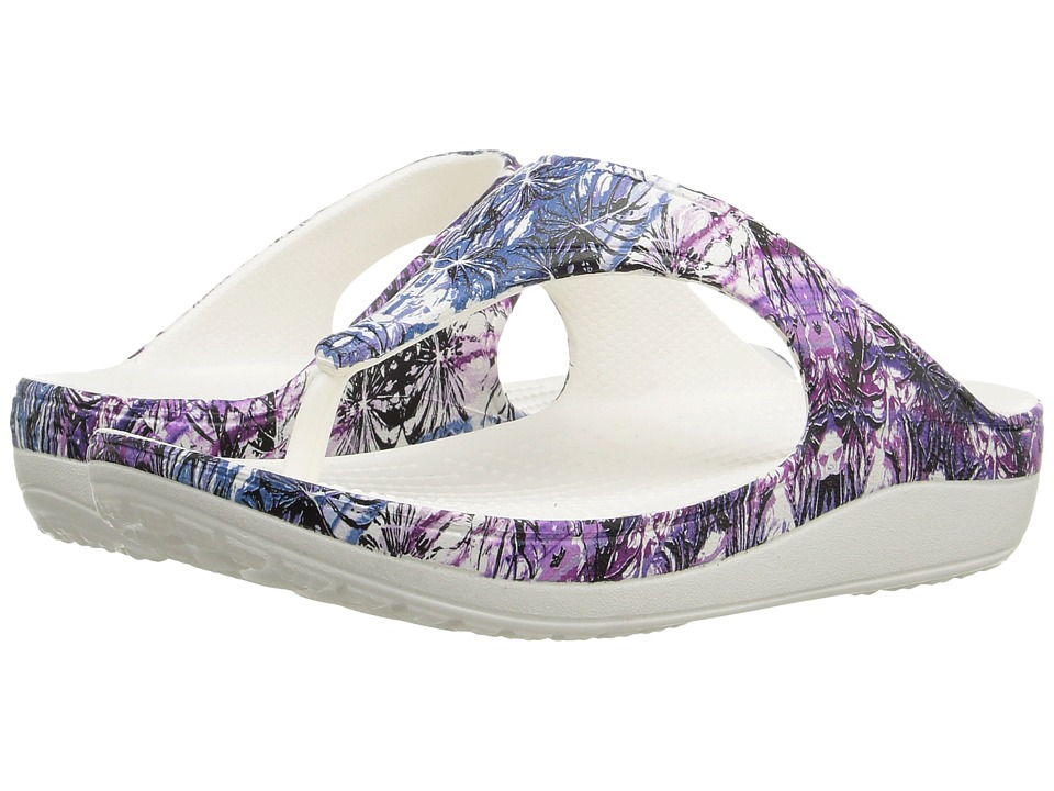 Crocs - Sloane Soft Floral Flip (Multi/White) Women's Slide Shoes