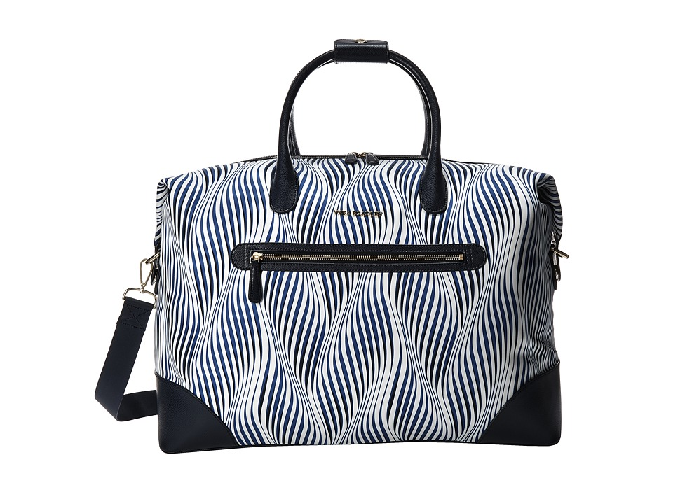 Vera Bradley Luggage - Travel Duffel (Wavy Stripe/Navy) Duffel Bags