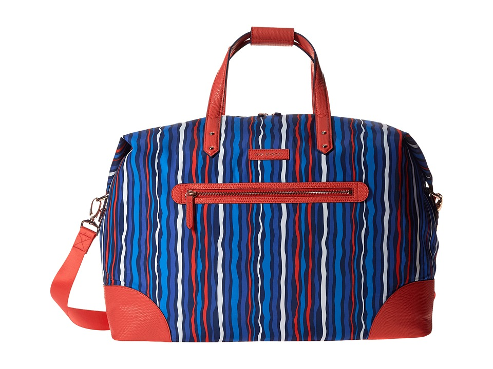 Vera Bradley Luggage - Preppy Poly Travel Duffel (Cobalt Stripe) Duffel Bags