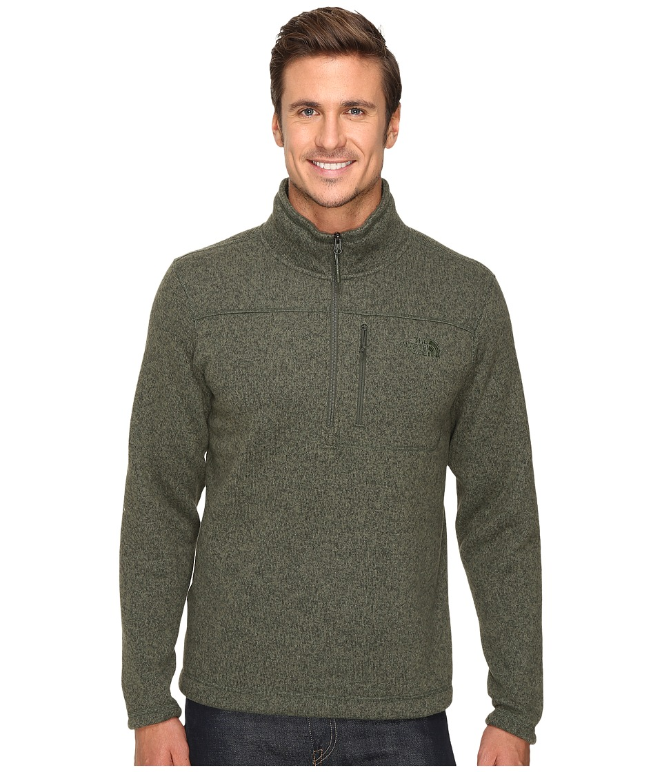 The North Face - Gordon Lyons 1/4 Zip Pullover (Climbing Ivy Green Heather) Men's Long Sleeve Pullover