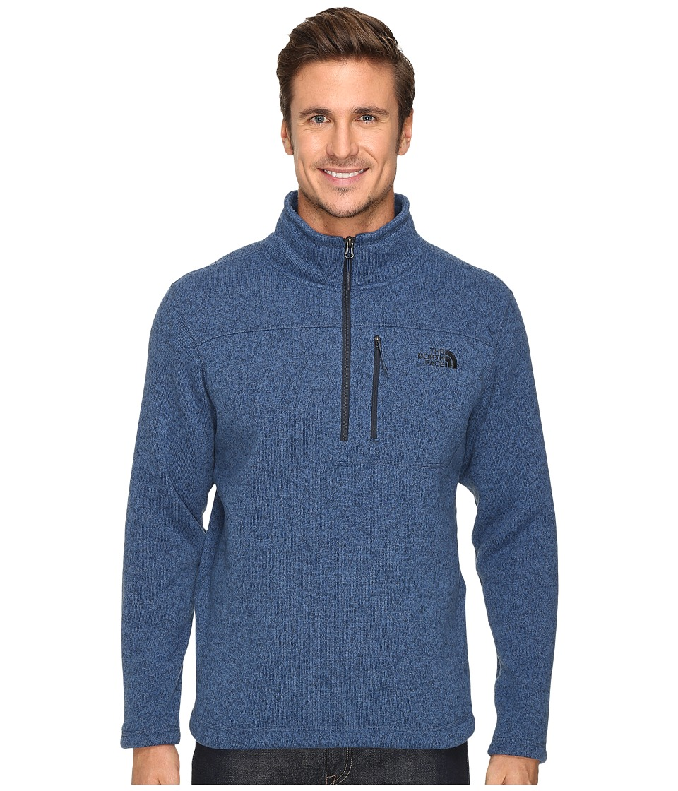 The North Face - Gordon Lyons 1/4 Zip Pullover (Shady Blue Heather) Men's Long Sleeve Pullover