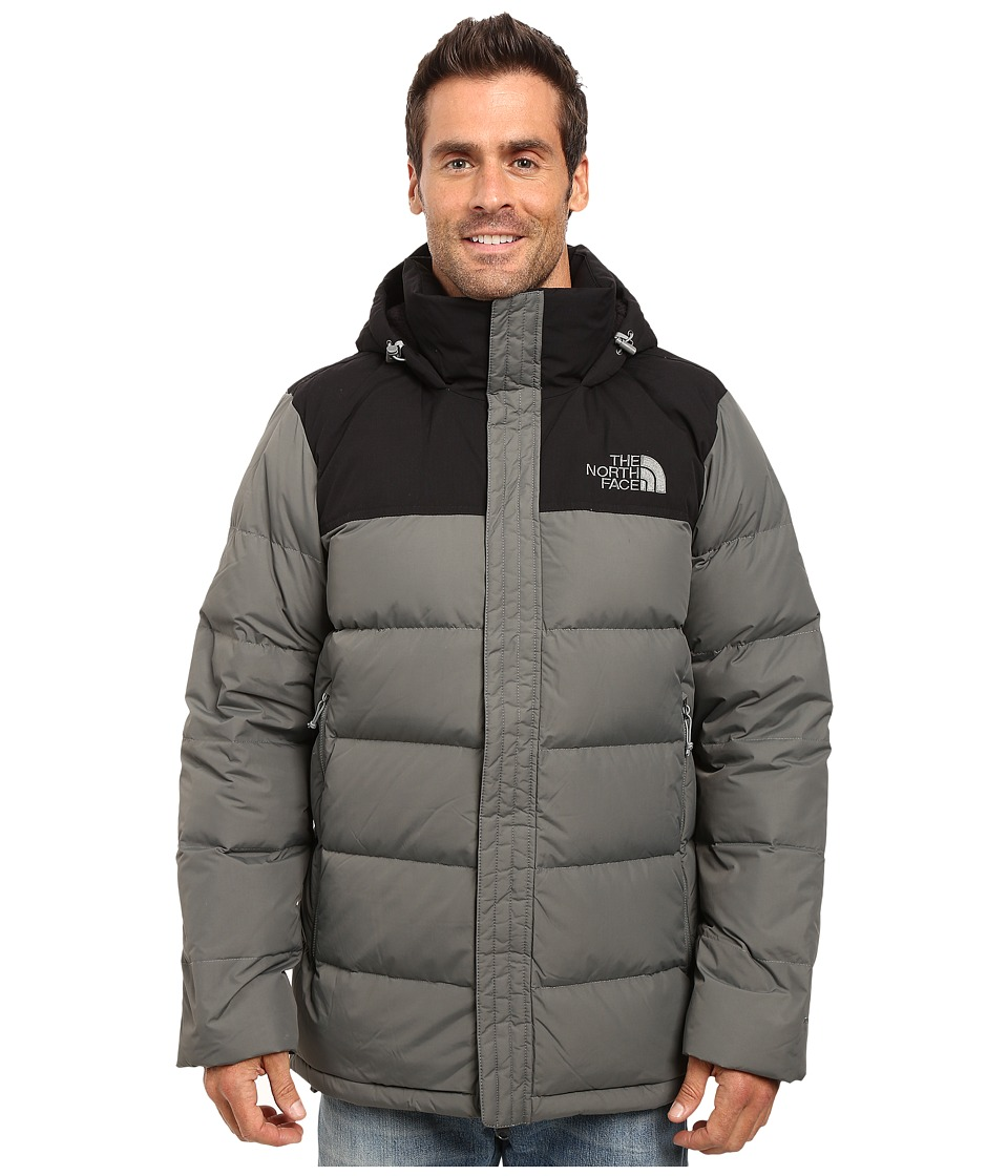 The North Face - Nuptse Ridge Parka (Fusebox Grey/TNF Black) Men's Coat