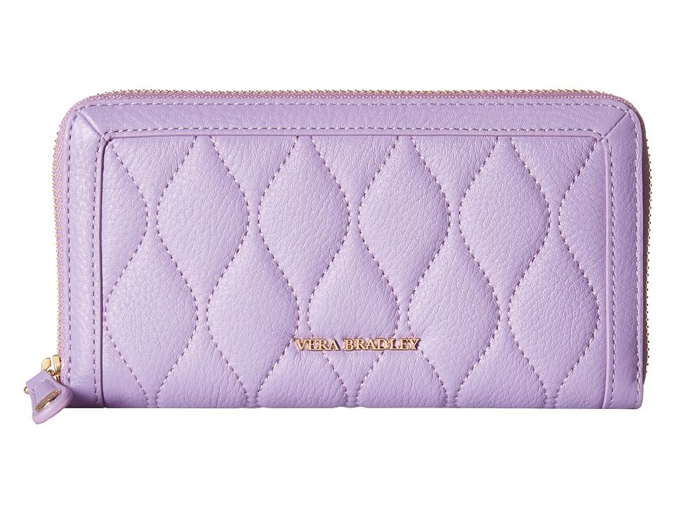 Vera Bradley - Quilted Georgia Wallet (Lavender) Bill-fold Wallet