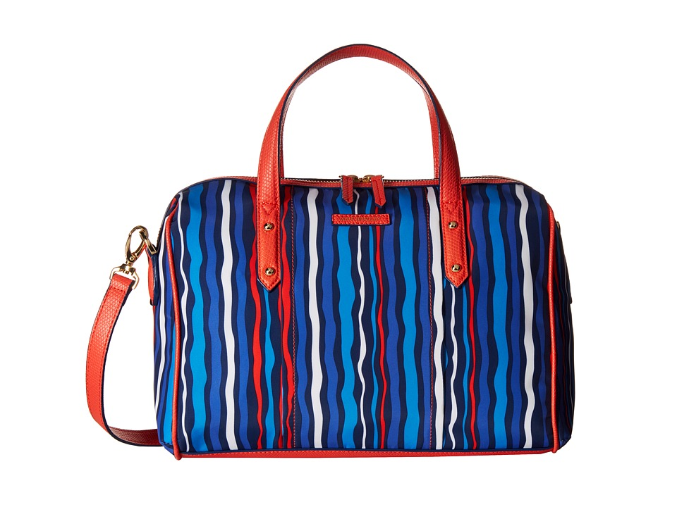 Vera Bradley - Preppy Poly Marlo Satchel (Cobalt Stripe) Satchel Handbags
