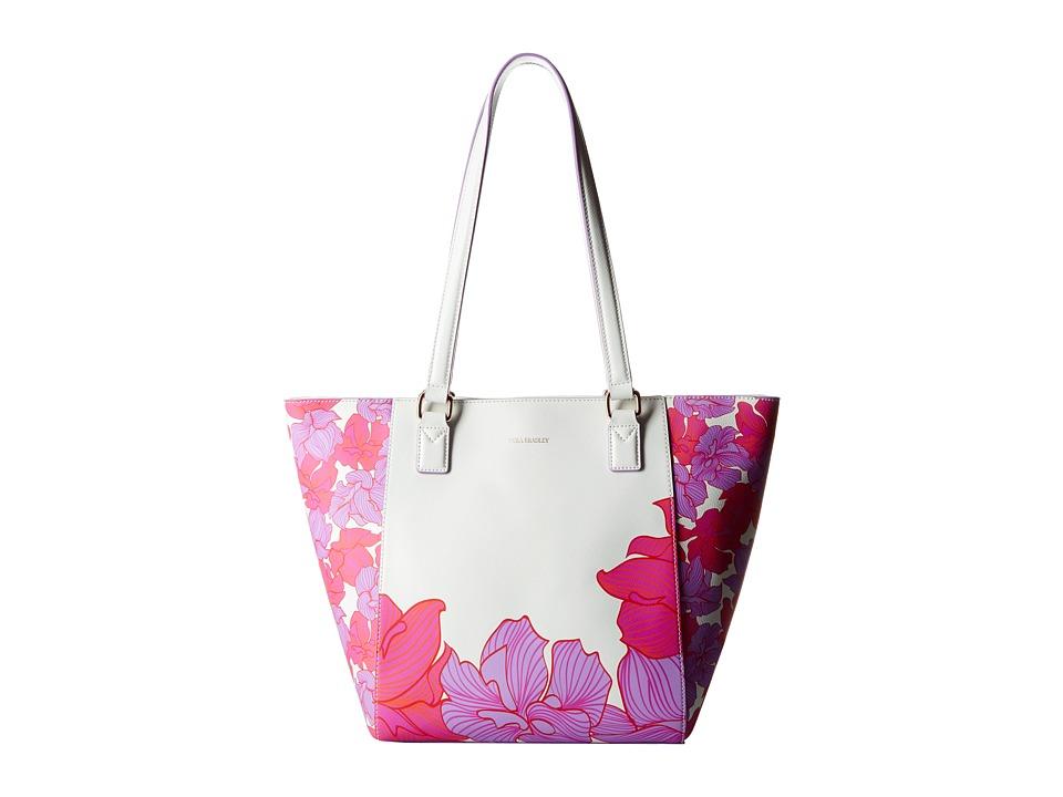 Vera Bradley - Small Ella Tote (Paradise Floral Lilac) Tote Handbags