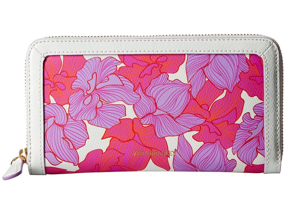 Vera Bradley - Georgia Wallet (Paradise Floral Lilac) Wallet Handbags