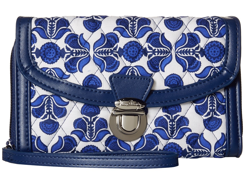 Vera Bradley - Ultimate Wristlet (Cobalt Tile/Navy) Clutch Handbags