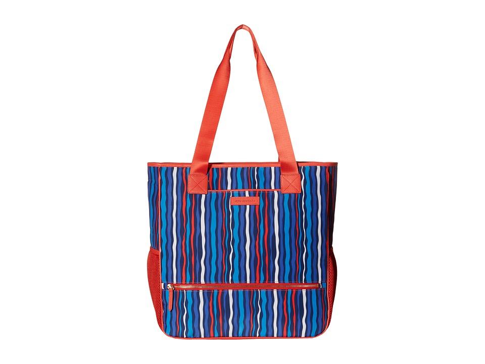 Vera Bradley - Preppy Poly NoSo Tote (Cobalt Stripe) Satchel Handbags
