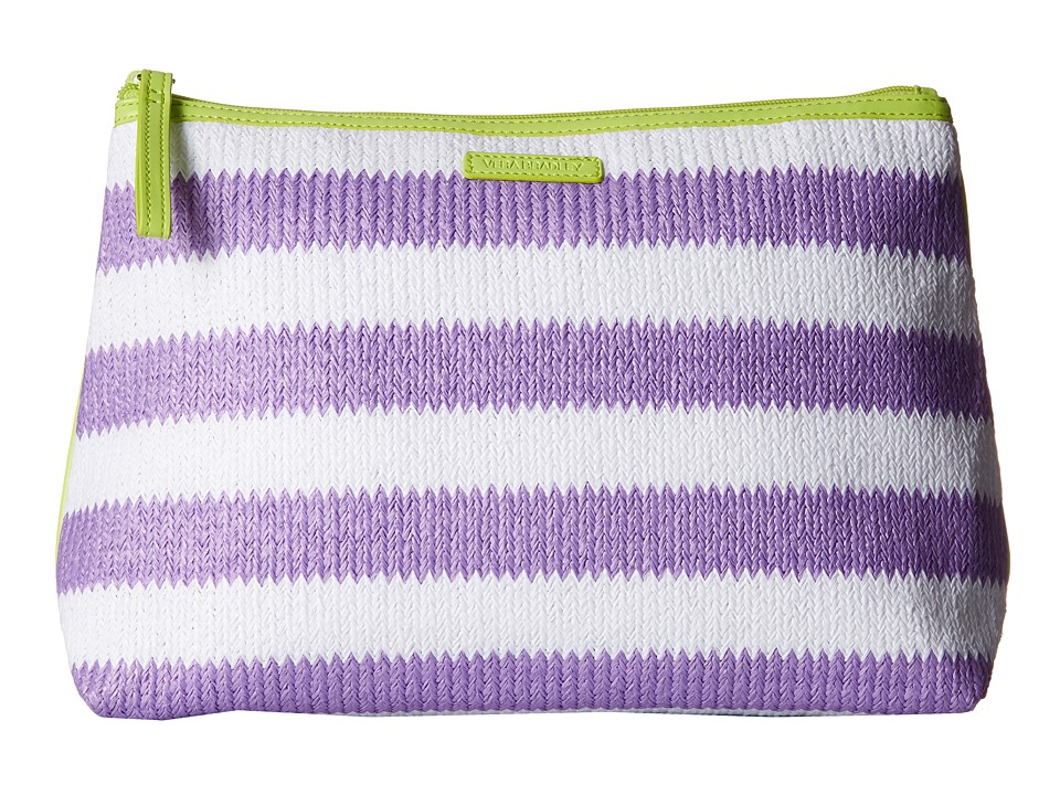 Vera Bradley - Striped Cosmetic (Lilac Stripe) Cosmetic Case