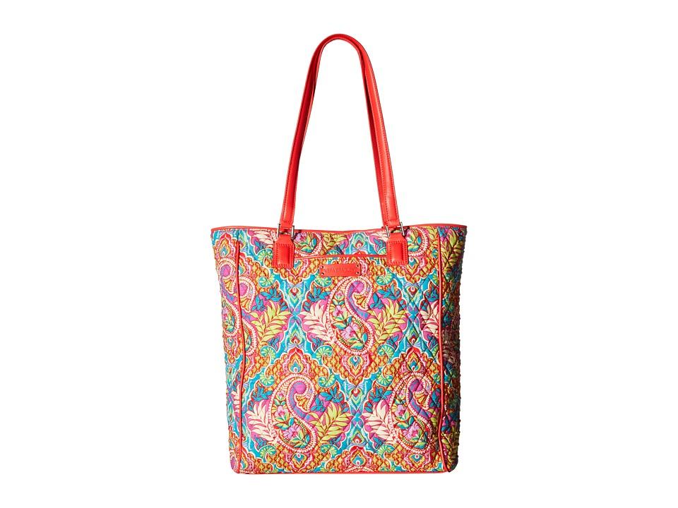 Vera Bradley - Crosstown Tote (Paisley in Paradise/Red) Tote Handbags