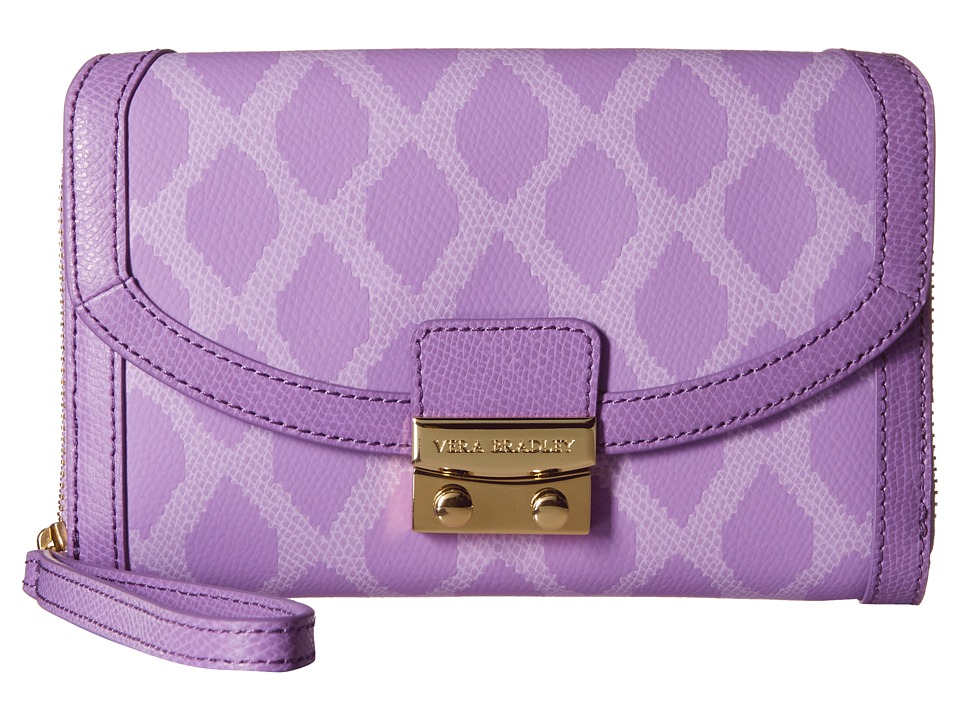 Vera Bradley - Ultimate Wristlet (Ikat Diamonds Lilac) Clutch Handbags