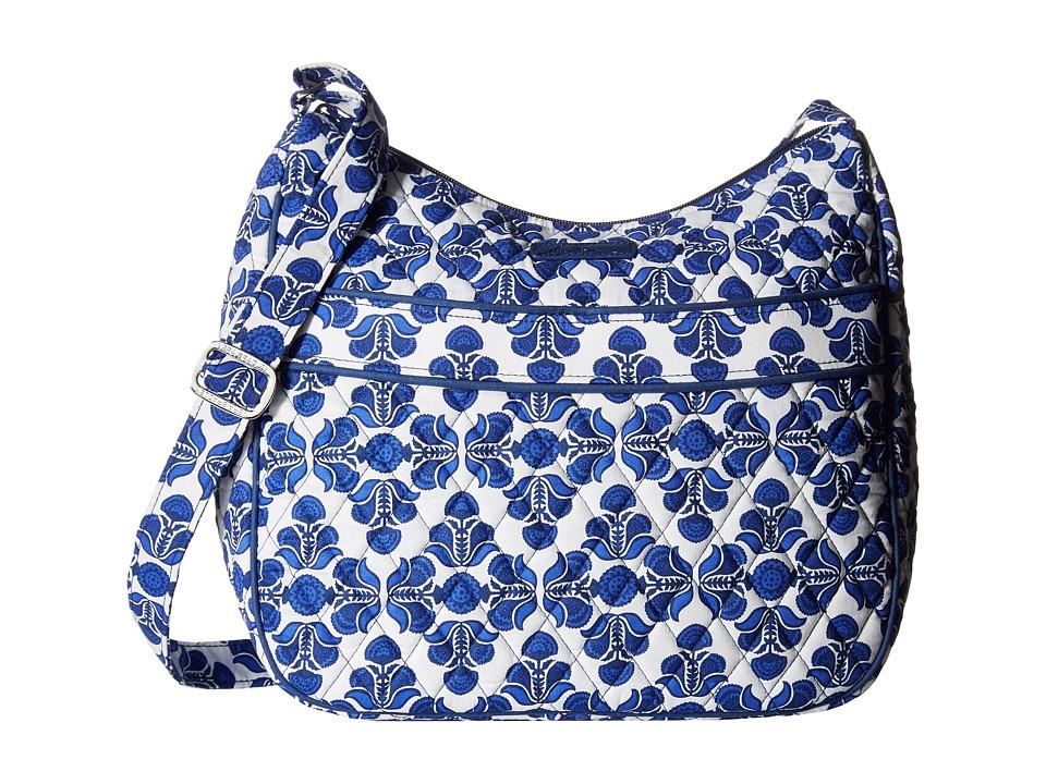 Vera Bradley - Carryall Crossbody (Cobalt Tile) Cross Body Handbags