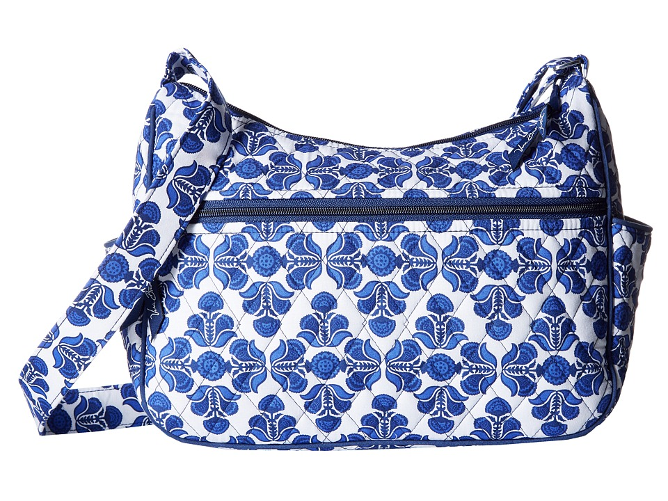 Vera Bradley - On the Go (Cobalt Tile) Cross Body Handbags