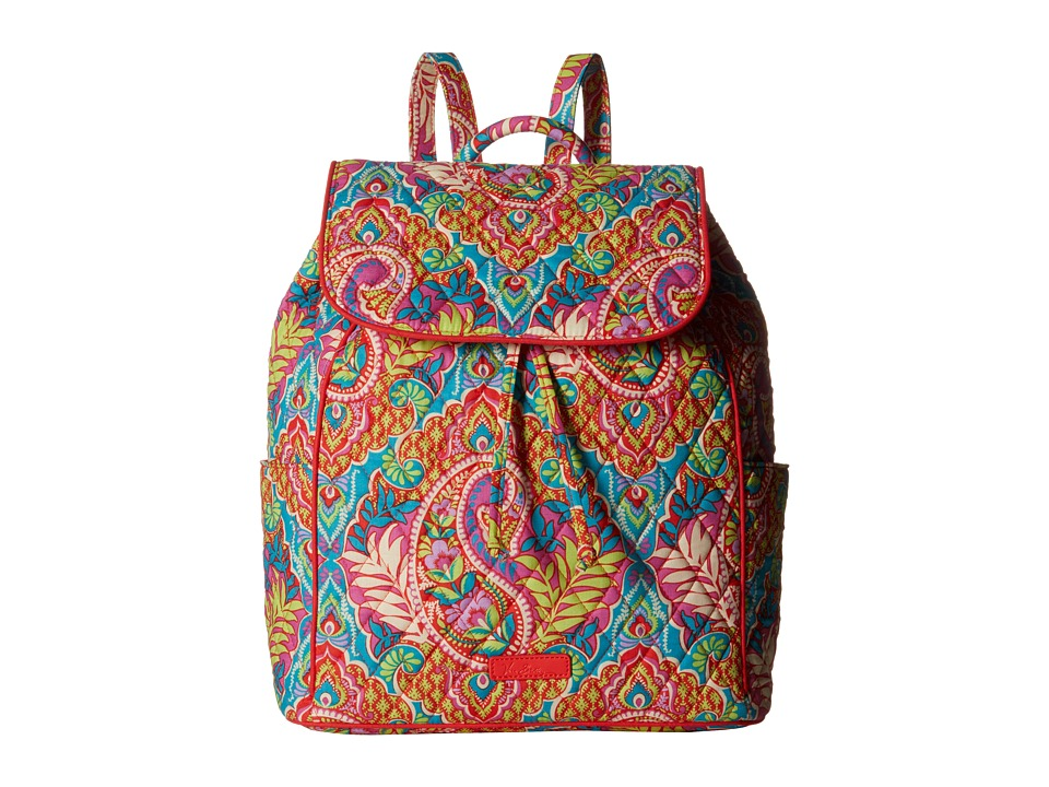 Vera Bradley - Drawstring Backpack (Paisley in Paradise) Backpack Bags