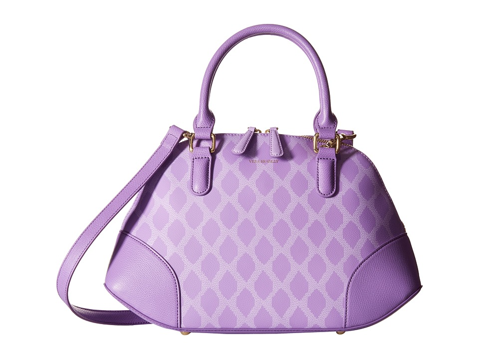 Vera Bradley - Angled Bowler (Ikat Diamonds Lilac) Handbags