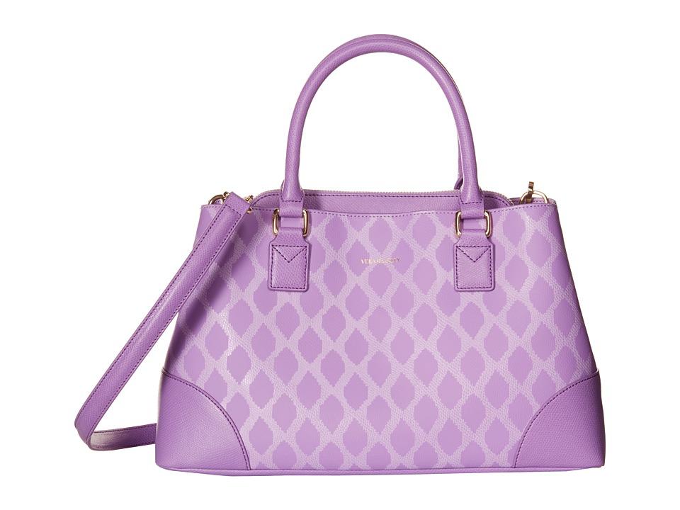 Vera Bradley - Emma Satchel (Ikat Diamonds Lilac) Satchel Handbags