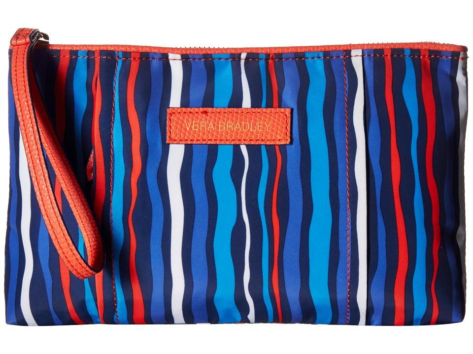 Vera Bradley - Preppy Poly Wristlet (Cobalt Stripe) Wristlet Handbags