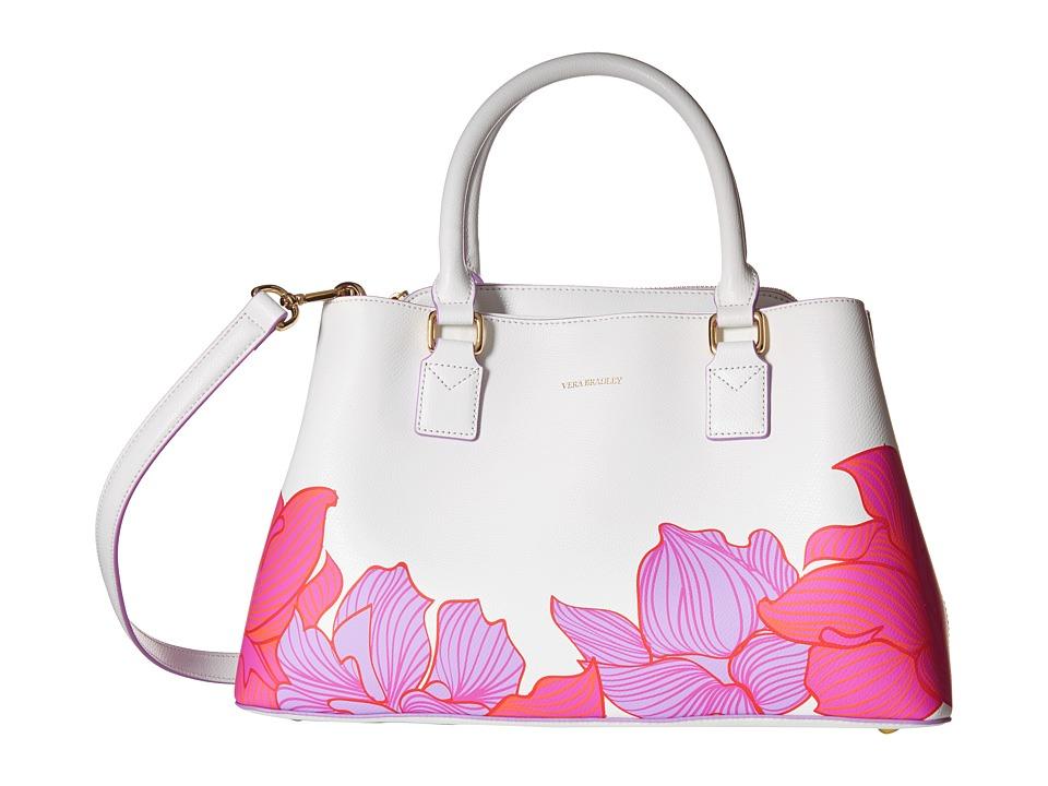 Vera Bradley - Emma Satchel (Paradise Floral Lilac) Satchel Handbags