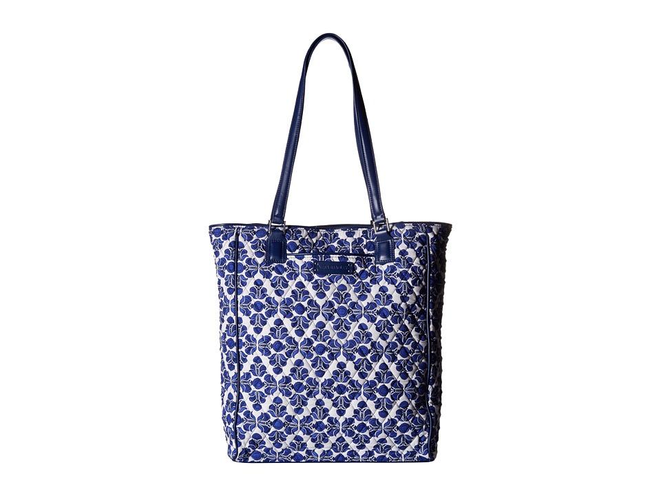 Vera Bradley - Crosstown Tote (Cobalt Tile/Navy) Tote Handbags