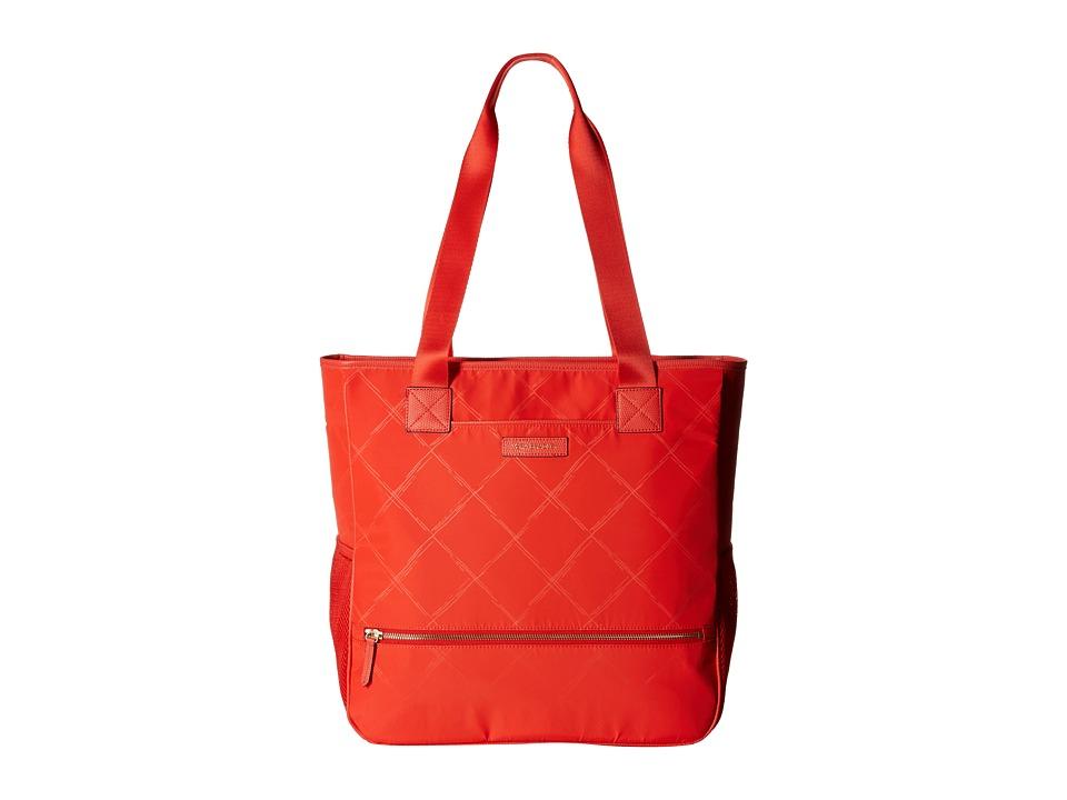 Vera Bradley - Preppy Poly NoSo Tote (Orange) Satchel Handbags