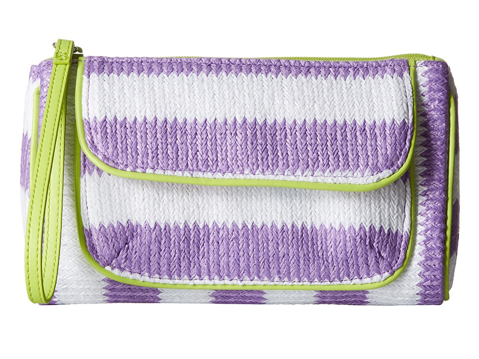 Vera Bradley - Striped Wristlet (Lilac Stripe) Wristlet Handbags