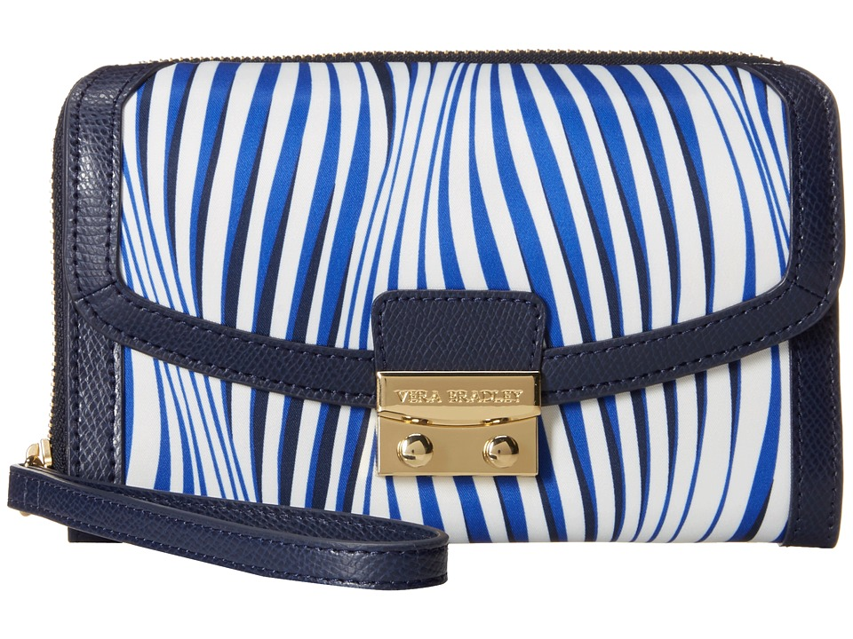 Vera Bradley - Ultimate Wristlet (Wavy Stripe/Navy) Clutch Handbags