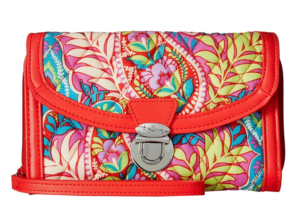 Vera Bradley - Ultimate Wristlet (Paisley in Paradise/Red) Clutch Handbags