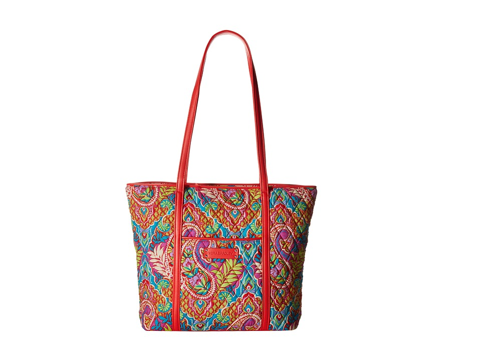 Vera Bradley - Small Trimmed Vera (Paisley in Paradise/Red) Tote Handbags