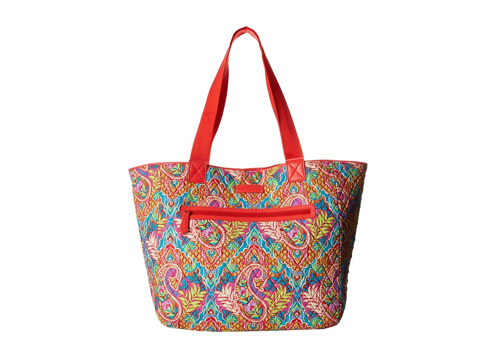 Vera Bradley - Trimmed Reversible Tote (Paisley in Paradise/Red) Tote Handbags