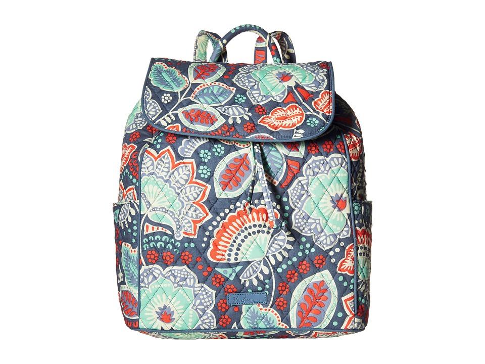 Vera Bradley - Drawstring Backpack (Nomadic Floral) Backpack Bags