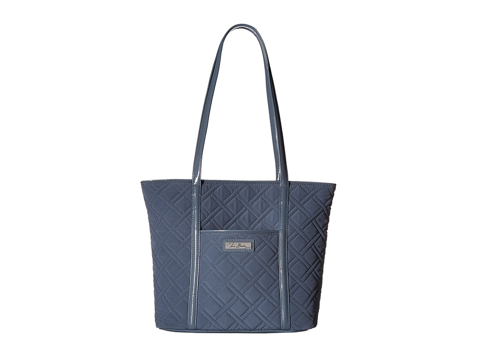 Vera Bradley - Small Trimmed Vera (Charcoal/Gray) Tote Handbags