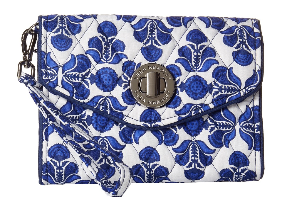 Vera Bradley - Your Turn Smartphone Wristlet (Cobalt Tile) Wristlet Handbags