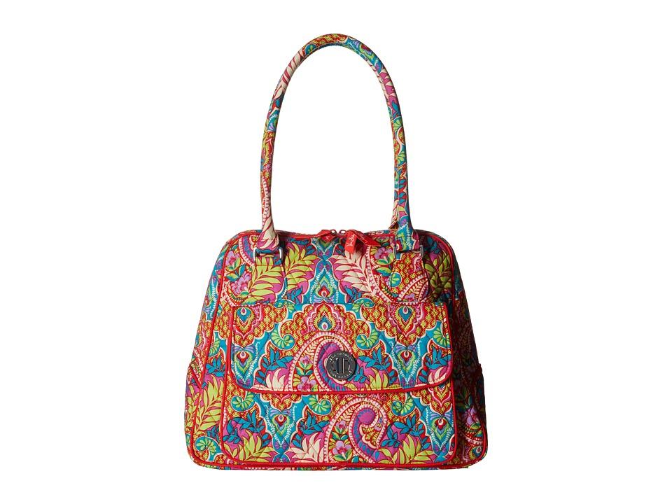 Vera Bradley - Turnlock Satchel (Paisley in Paradise) Satchel Handbags