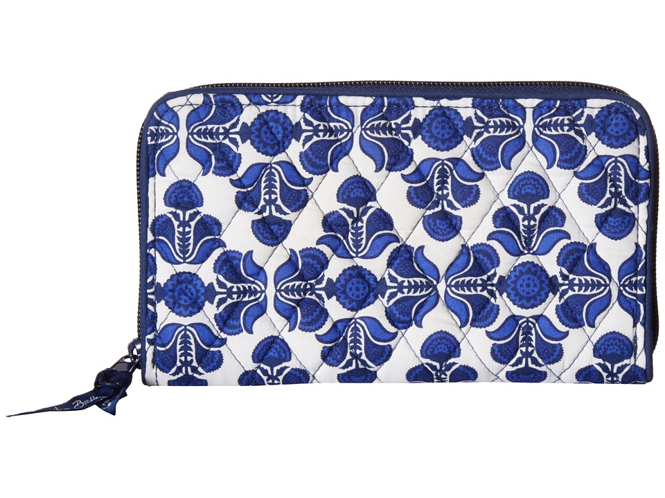 Vera Bradley - Accordion Wallet (Cobalt Tile) Wallet Handbags