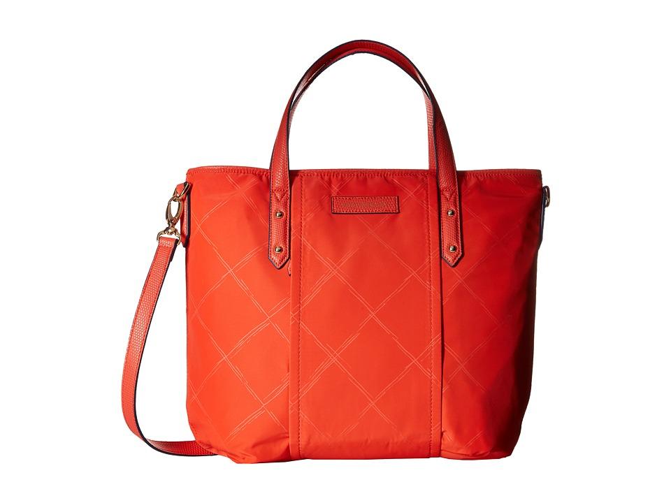 Vera Bradley - Preppy Poly Satchel (Orange) Satchel Handbags