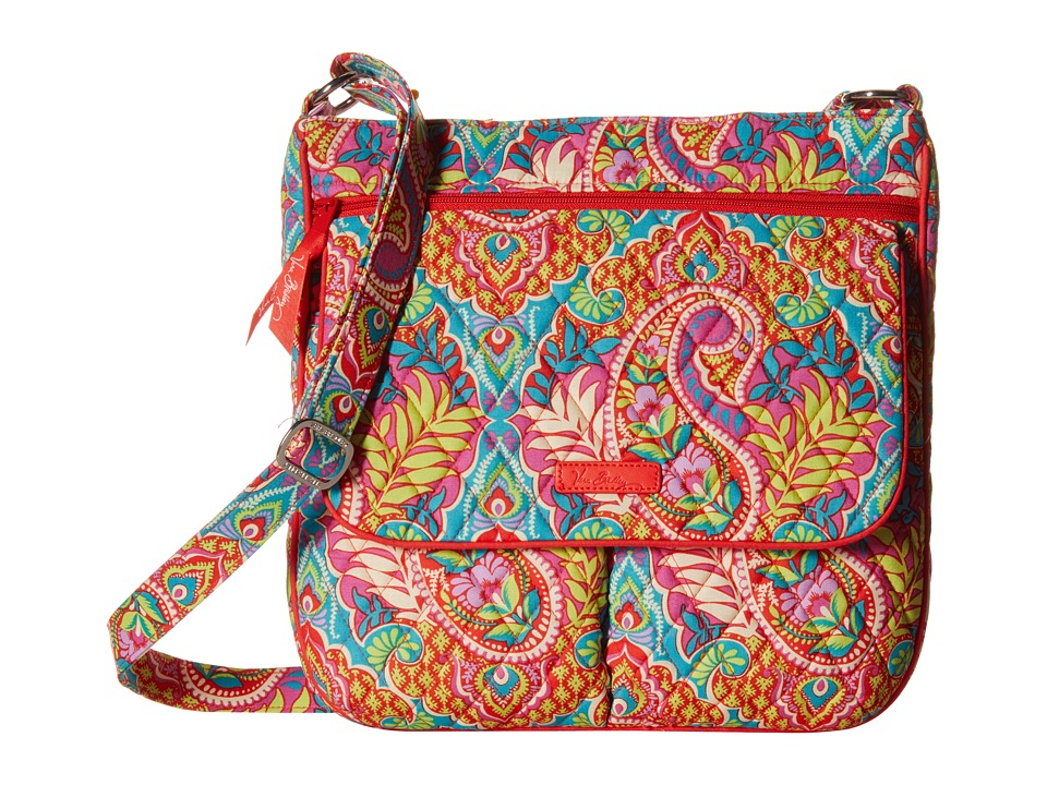 Vera Bradley - Double Zip Mailbag (Paisley in Paradise) Cross Body Handbags