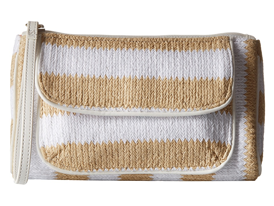 Vera Bradley - Striped Wristlet (Natural Stripe) Wristlet Handbags