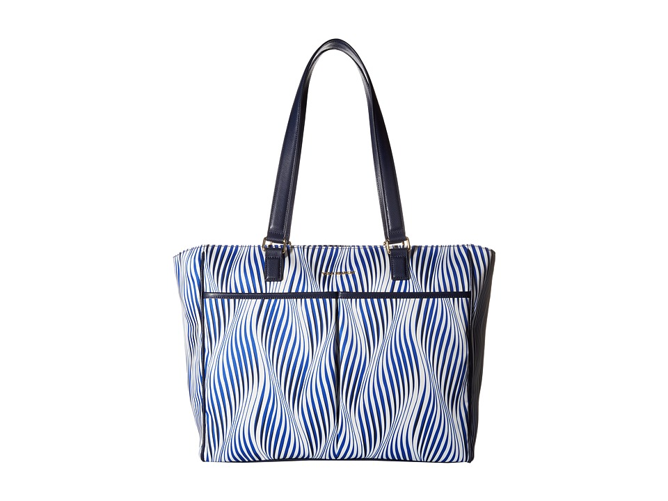 Vera Bradley - Uptown Baby Bag (Wavy Stripe/Navy) Diaper Bags