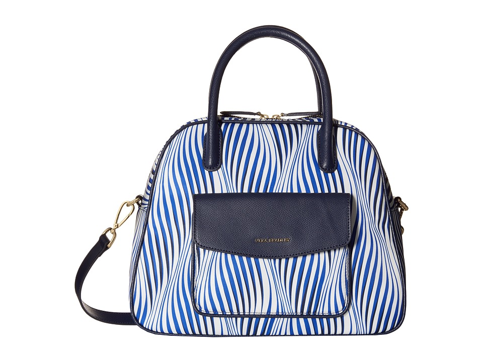 Vera Bradley - Bowler (Wavy Stripe/Navy) Shoulder Handbags