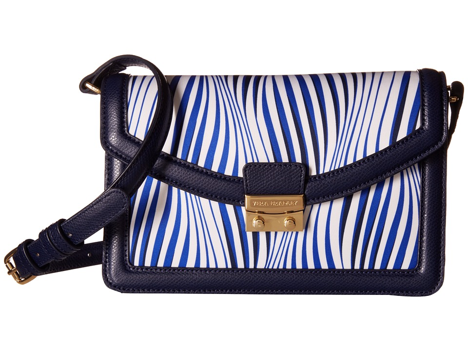 Vera Bradley - Tess Crossbody (Wavy Stripe/Navy) Cross Body Handbags
