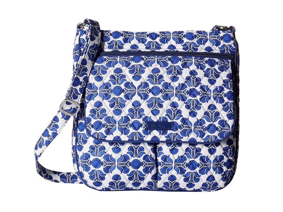 Vera Bradley - Double Zip Mailbag (Cobalt Tile) Cross Body Handbags